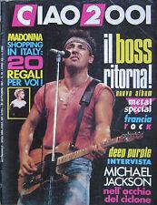 CIAO2001 40 1987 Bruce Springsteen Madonna Michael Jackson Deep Purple Aerosmith