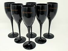 More details for veuve clicquot black champagne acrylic party flute - goblets brand new set of 12