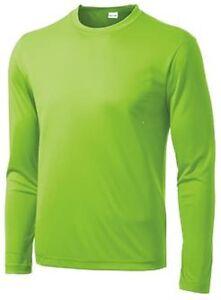 Mens Moisture Wicking Big & Tall Long Sleeve Dri Fit Running T-shirts TST350LS