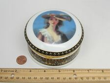 Collectible Vecceli Italy Young Girl Jewelry Porcelaine Box Decoration