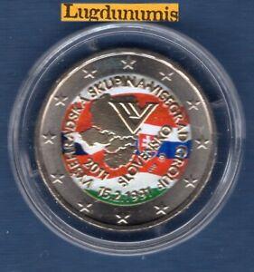 2 Euro Commémo Couleur Color T2 Slovaquie 2011 Groupe Vizegrad T2