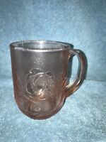 Arcoroc France Coffee Cup Mug Rosaline Rosa Frosted Pink Glass Rose 1 Glass Cup