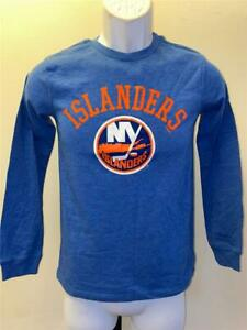 New New York Islanders Youth Size L Large Blue Long Sleeve Shirt