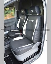 VW Caddy Van Tailored R-line Design Seat Covers with Extra Logos Genuine Fit