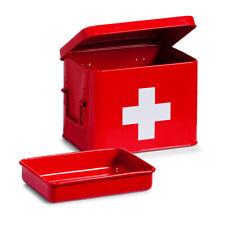 Medication Box Red Medicine Cabinet Home Medical Supplies