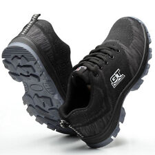 Men's Safety Shoes Steel Toe Fashion Work Boots Breathable Hiking Climbing Tops