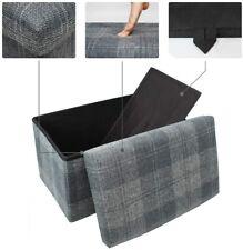 FOLDING OTTOMAN STORAGE BOX BEDROOM LIVING ROOM FOOTSTOOL CHEST BEDDING LARGE