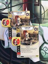 Aurra Sing x2 Rare #18 Star Wars Destiny Spirit Of Rebellion Card+Die