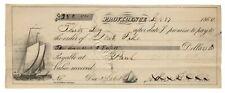 Providence, R.I. Promissory Note - 1860 Sailing Ship Vignette