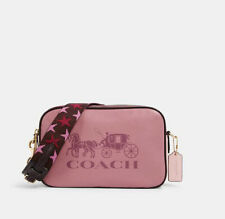 NWT Coach Jes Color Block Rose Multi Leather Double Zip Crossbody Bag 3041 $325