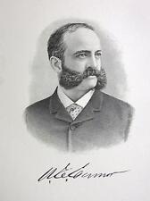 WASHINGTON CONNOR Walls Street Exchange New York Financier - 1895 Portrait Print