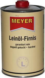 Meyer Leinöl-Firnis Leinöl Firnis Leinölfirnis Lackfirnis Holzschutz 1 Liter