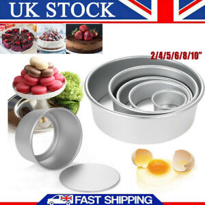 4/5/6/8/10 Inch Round Cake Pan Tin Baking Mold Mould Removable Bottom Loose Base