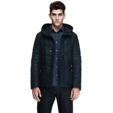 Armani Exchange Men's Dark Blue Hooded Padded Jacket D6K828FD Midnight XL