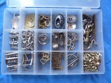 New ListingBox of Conchos Leather craft Tools D Rings belt assortment key holders buckles