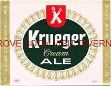 $1 Label 1967 Krueger Beer Cranston RI 32oz Quat Quart Tavern Trove