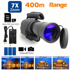 Rongland Infrared Night Vision IR Monocular Telescopes 7x60 Zoom+3psc Batteries