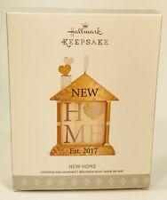 2017 Hallmark Keepsake Ornament NEW HOME Dated 2017 Wood Ornament NIB