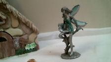 stained glass Cast Fairy w Green Wings & Green dress Ooak