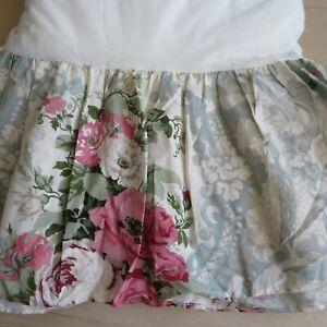 Westpoint Stevens King Size Bed Skirt Floral Vintage USA New Old Stock