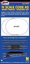 Atlas 2788 N Code 80 Nickel Silver Snap-Track Starter Set. New