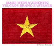 VIETNAM FLAG PATCH VIETNAMESE STAR EMBROIDERED EMBLEM w/ VELCRO® Brand Fastener