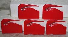 10 (Ten) New Unbranded Red Plastic Stainless Steel Letter/Envelope Openers