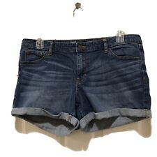 Mossimo Premium Denim Blue Jean Stretchy Cotton Shorts Size 16 Fit 3 Coupe 3