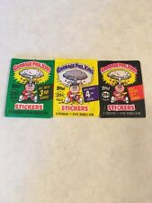 Lot of 3 1986 Garbage Pail Kids Topps Series #3, #4, #5 Unopened Wax Packs