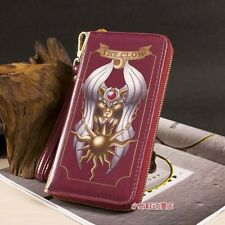 Cosplay Anime Card Captor Sakura The Clow Long Zip Wallet Purse Coin Bag Red New