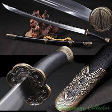 Qing Dao Yanling sword Xiu Chundao High Carbon Steel blade sharp 清刀雁翎繡春刀 #T035