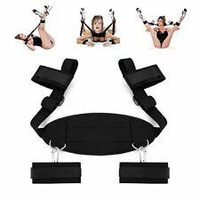 Adults BDSM Sex Fetish Bed Restraint Bondage Collar Hand Ankle Cuffs Fantasy Set