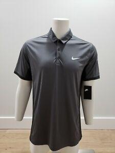 Nike Men's Dri-Fit Short Sleeve Golf Polo Shirt DC7841-063 Dark Gray