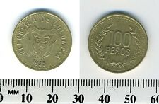 Colombia 1995 - 100 Pesos Aluminum-Bronze Coin - Flagged arms above date