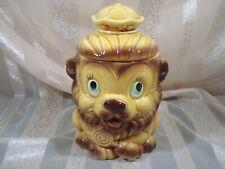 Vintage Lion Cookie Jar * Japan* Hand painted* Nice