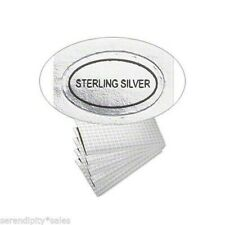"""100 Peel Off Adhesive Labels Tags ~ Oval 1/2"""" x 5/16"""" Marked """"Sterling Silver"""""""