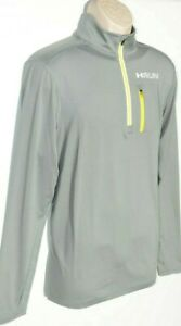 UA Running Men's Under Armour Jacket Gray Neon Yellow Fitted SZ M XL New $85