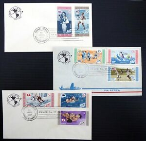 DOMINICA 1959 Set of 3 Olympic FDC's DF766