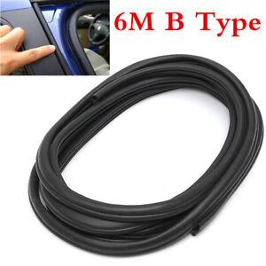 6M/236inch Push-on Weatherstrip Car Door Edge Seal Gap Strip Accessories B-type