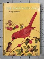THE BACKYARD ZOO from Hallmark's 1st POP-UP BOOK Series! VTG '66 Small Format HB