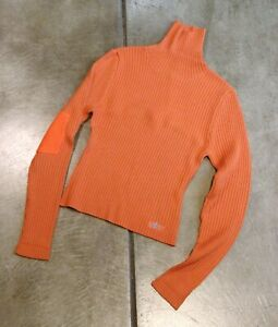 Women's Orange Snowboard Ski Sweater from Cold As Ice size Medium