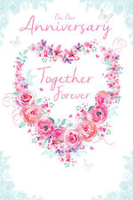 GLITTER COATED ON OUR ANNIVERSARY TOGETHER FOREVER ANNIVERSARY GREETING CARD