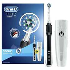 Oral-b PRO 2 2500N 3D Electric T/brush BLACK + Travel Case *SPECIAL OFFER*