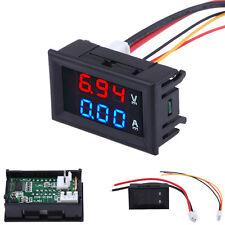 Dual LED Blue Red Digital Voltmeter Ammeter Amp Volt Meter Voltimetro 4.5-30V DC