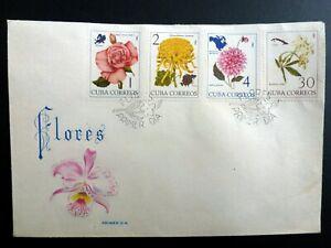 Spanish Antilles 1965 Flowers Flores FDC