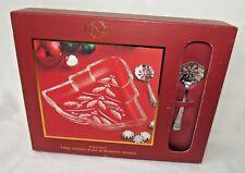 Lenox Crystal Christmas Tree Candy Dish w/ Bonbon Spoon, in Box, Holiday