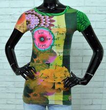 Maglia DESIGUAL Donna Taglia Size XS Cotone Woman Shirt Floreale PARI AL NUOVO
