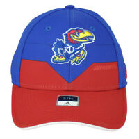 NCAA Adidas Kansas Jayhawks M730Z Flex Fit Large XLarge Hat Cap Blue Stretch
