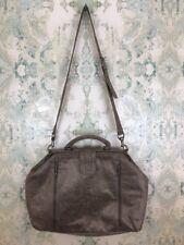 NEW MATT & NAT Large Weekender Metallic Beige Vegan Leather Tote Bag