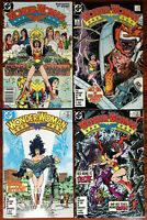 Newsstand Variant Wonder Woman 1987 RARE 1 - 4 Lot in NM+ VF Perez DC Comics